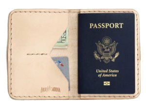 Alta Andina leather passport holder, wallet, travel, natural, beige