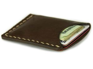 Alta Andina Leather Cardholder, wallet, slim, minimalist, business cards, credit cards, café, brown